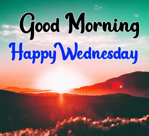 Good morning happy wednesday images with sunrise