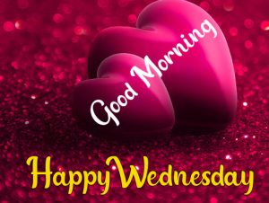 Red love Good morning happy wednesday images