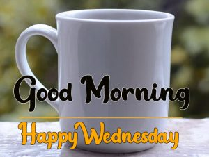 White cup good morning happy wednesday photo